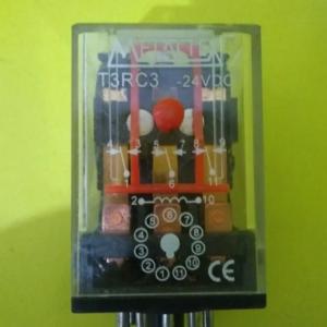 RELÉ SOQUETE 11 PINOS 24VDC 10A METALTEX T3RC3
